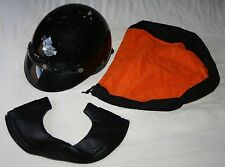 XS Harley Davidson Motorcycle Half Helmet, Visor, Ear Guard and Storage Bag