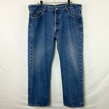 Levi's 501 XX Mens Button Fly Medium Wash Jeans 5 Pkt Leather Badge Meas 40x28