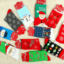 New Christmas Socks Cotton Cute Santa Snowman Snowflake Men&Women Xmas Gifts Lot