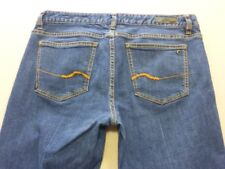107 WOMENS EX-COND JAG 70'S BOOTLEG BLUE WASH STRETCH JEANS SZE 13 $120 RRP.