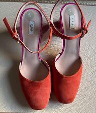Beautiful Furla Real Leather Shoes Sling Backs Size 39 UK 6 - Brand New