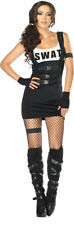 Morris Costumes Sultry Swat Officer Black S/M. UA83850SD
