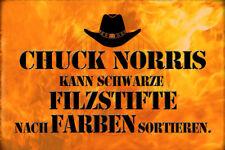 Chuck Norris Spruch 15 Blechschild Schild gewölbt Metal Tin Sign 20 x 30 cm