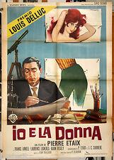 manifesto 2F originale IO E LA DONNA - LE SOUPIRANT Pierre Etaix 1964