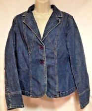 City DKNY womens denim blazer/jacket, size 10 (medium), no pockets