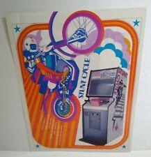 Atari Stunt Cycle Arcade FLYER Original 1976 Retro Video Game Paper Motorcycles
