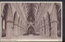 Somerset Postcard - Nave East, Wells Cathedral     RS3948
