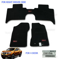 Tailored Carpet Floor Mat Set Front Auto Rh Driver Genuine Nissan Navara NP300
