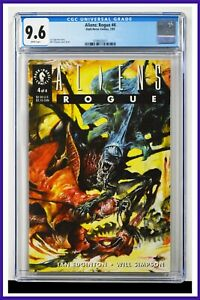 Aliens Rogue #4 CGC Graded 9.4 Dark Horse July 1993 White Pages Comic Book