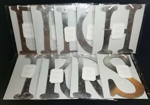Pottery Barn Kids Monique Lhuillier Ribbon Letter Silver Distressed NEW! CHOICE!