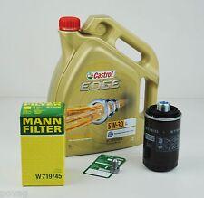 5L Castrol EDGE TITANIUM FST 5W-30 Longlife MANN Ölfilter Audi A4 A5 TT Q5