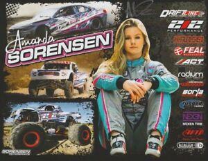 2020 Amanda Sorensen signed Formula Drift Trophy Truck Monster Truck Hero Card
