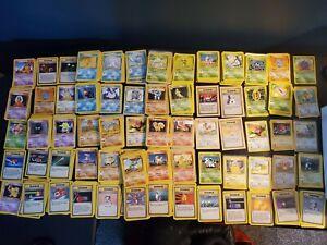 Almost Complete Common/Uncommon Base Set w/ 4 Rare Pokemon - LP/NM/Mint-65 Cards