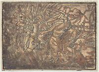 MITTELALTER Orig. Postinkunabel Holzstich 1550 Jesus gefangen Soldaten Schwert