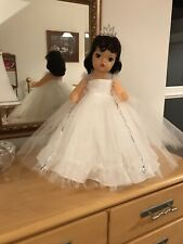 """Terri Lee 16"""" formal in White with sparkling sequin trim. and in a vintage box"""