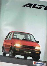 1990 SUZUKI ALTO Range Large Format 10 Page Japanese Brochure in English