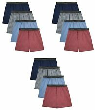 Fruit of the Loom Mens Boxers 12-Pack Relaxed Fit Plaids/Stripes Tagless