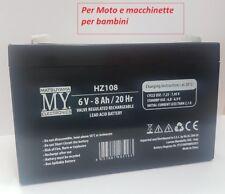 Batteria ricaricabile  al piombo 6V 8Ah