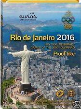 Coffret BE SLOVAQUIE 2016 - JO Rio de Janeiro - Série 1 cent à 2 euros + jeton