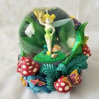 Disney Store Peter Pan Tinkerbell Light Up Musical Snow Globe Plays-You Can Fly