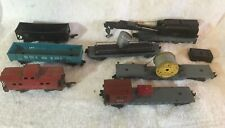 VINTAGE American Flyer Train Car Lot Boom Car, Crane, Spotlight, Cable  more