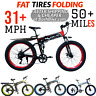 Folding Electric Bicycle 1000W Fat Tire 48V 31 MPH 50 Mile 26 Inch Bafang Ebike