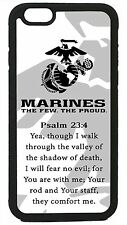 USMC Marines Prayer Psalm 23:4 Marine Corps iPhone 4 4s 5 5s 5c 6 6+ Cover Case