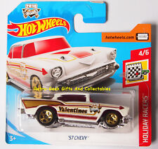 Hot Wheels Limited Edition 2018 Valentines Day Holiday Racers Car 57 Chevy