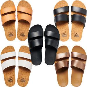 Reef Womens Cushion Vista Hi Summer Holiday Sliders Slides Sandals