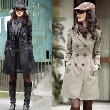 New Women Winter Warm Trench Coat Ladies Double Breasted Wool Outwear Parka ILOE