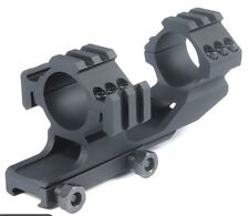 Tr-Side Rails 30mm Dual Scope Rings Cantilever Ring Scope Mount PEPR Black