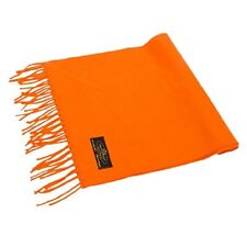 100% Soft Cashmere Scarf Made in Germany (Orange)