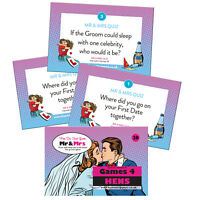 Mr And Mrs Hen Party Game Classic Classy Hen Do Activity Handheld Mr & Mrs Pink