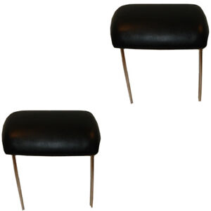 70-72 GM A & X Body Models Headrest Assembly for Bucket Seats - Pair BLACK