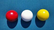 (3) - Three-Pallino Wood Target Bocce Balls- Made In Usa- Red,White & Yellow