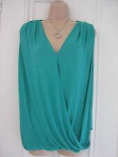 Zara W&B Collection size S bright green v neck draped top BNWT RRP £19.99