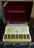 Vintage 1930's Excelsior Accordion Mother of Pearl Art Deco One Owner Italy