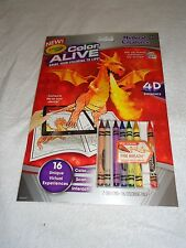 New Crayola Color Alive 4D Experience Coloring Pages Crayons Mythical Creatures