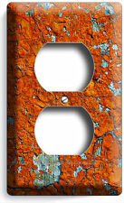 Rustic Cracked Rust Rusted Duplex Outlet Receptacle Wall Plate Cover Man Cave