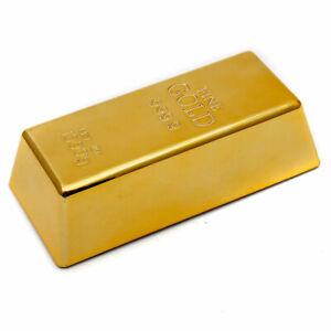 Deko Goldbarren Türstopper aus Gold Briefbeschwerer Massiv - DEUTSCHER ANBIETER!