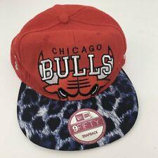 Vintage NEW ERA Chicago Bulls Red Basketball Snapback Cap