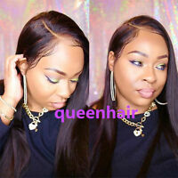 Glueless Brazilian Silky Straight Human Hair full lace wigs lace front Wigs