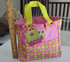 Minnie Mouse Disney Junior Pink Polka Dot Beach Garden Tote Mini Bag Purse - NWT