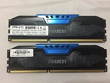 PNY Anarchy 8GB (2x4GB) Matching Gaming RAM PC3 12800 CL9-9-9-27 1600MHz Memory