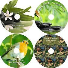 Zen Spa Music Collection Relaxation Meditation Deep Sleep Salon Stress 4 CD