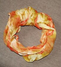 Schal - Tuch - Halstuch - Seide - Batikmuster - elegant - orange
