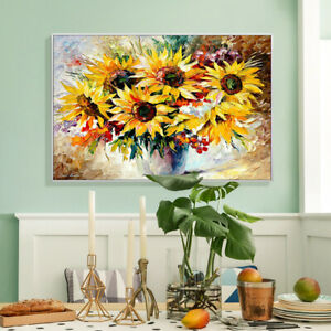 AA289 Canvas Hand-painted oil painting Sunflower Unframed