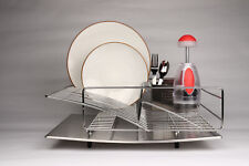 New listing Zojila Rohan All Stainless Steel Dish Rack, Drainboard and Cutlery Holder