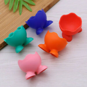 5Pcs Set Silicone Egg Cup Holders Kitchen Breakfast Boiled Eggs Serving Cups New