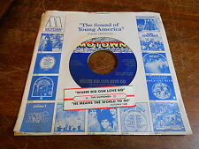 Supremes MOTOWN 45 Where Did Our Love Go / He Means the World to Me